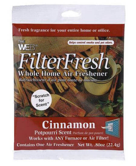 Web Filter Fresh Cinnamon Scented Air Freshener Pad