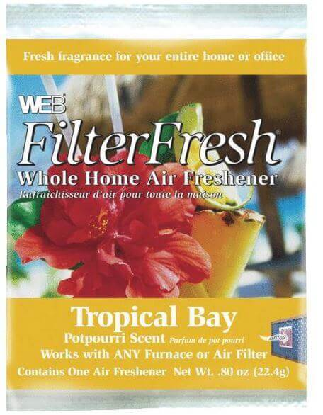 Web FilterFresh Tropical Bay Scented Furnace Air Freshener Pad