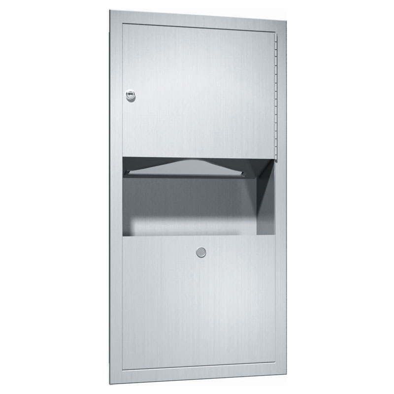 Traditional Recessed C-Fold/Multi-Fold Towel Dispenser & Waste Receptacle