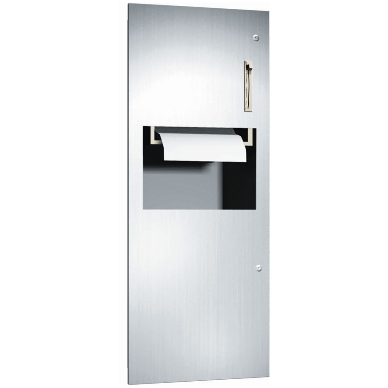 ASI Roll Paper Towel Dispenser and Waste Receptacle