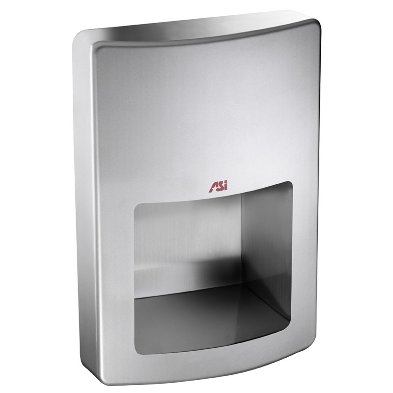 ROVAL Recessed High-Speed Automatic Hand Dryer - Satin Stainless Steel