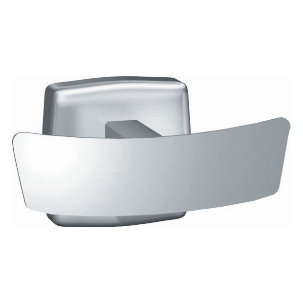 Surface Mounted Stainless Steel Double Robe Hook - Bright Finish - 1 5/8