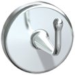 Concealed Chrome Plated Brass Heavy-Duty Robe Hook