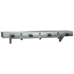 American Specialties [1315-4] Surface Mount Stainless Steel Mop Holder Utility Shelf w/ Drying Rod - Satin Finish - 36