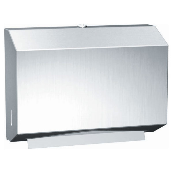 Traditional Stainless Steel C-Fold/Multi-Fold Paper Towel Dispenser - Satin Finish