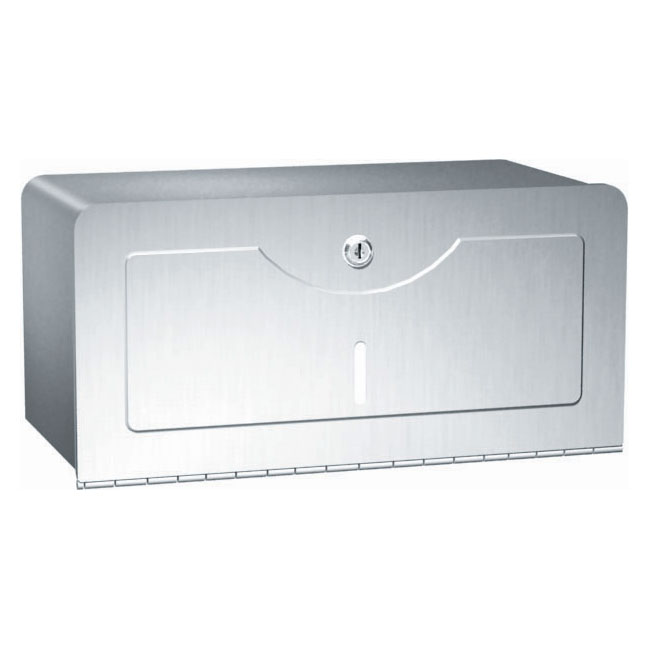 Traditional Stainless Steel Single-Fold Paper Towel Dispenser - Satin Finish