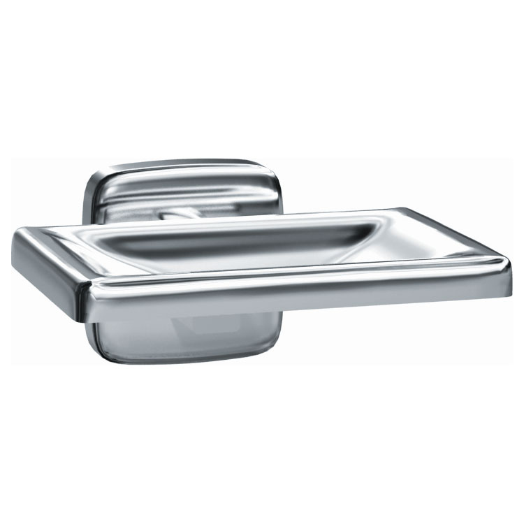 Surface Mounted Stainless Steel Soap Dish - Satin Finish
