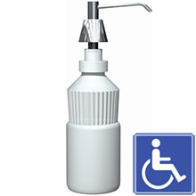 "Lavatory Mounted All Purpose Soap Dispenser - 4"" Spout - 34 oz. Capacity"