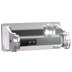 American Specialties [0710] Chrome-Plated Steel Surface Mounted Single Roll Toilet Tissue Dispenser - 5 1/4