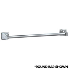 American Specialties [7360-24B] Surface Mounted Stainless Steel Towel Bar - Square Bar - Bright Finish - 24