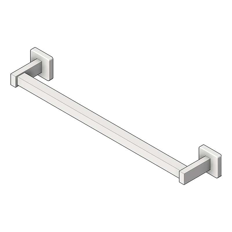 American Specialties [7360-24S] Surface Mounted Stainless Steel Towel Bar - Square Bar - Satin Finish - 24