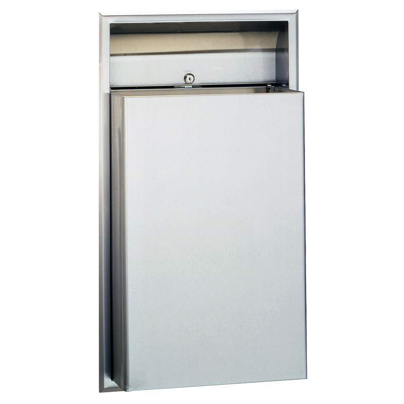 Classic series recessed waste receptacle 12 gallon - Commercial bathroom waste receptacles ...