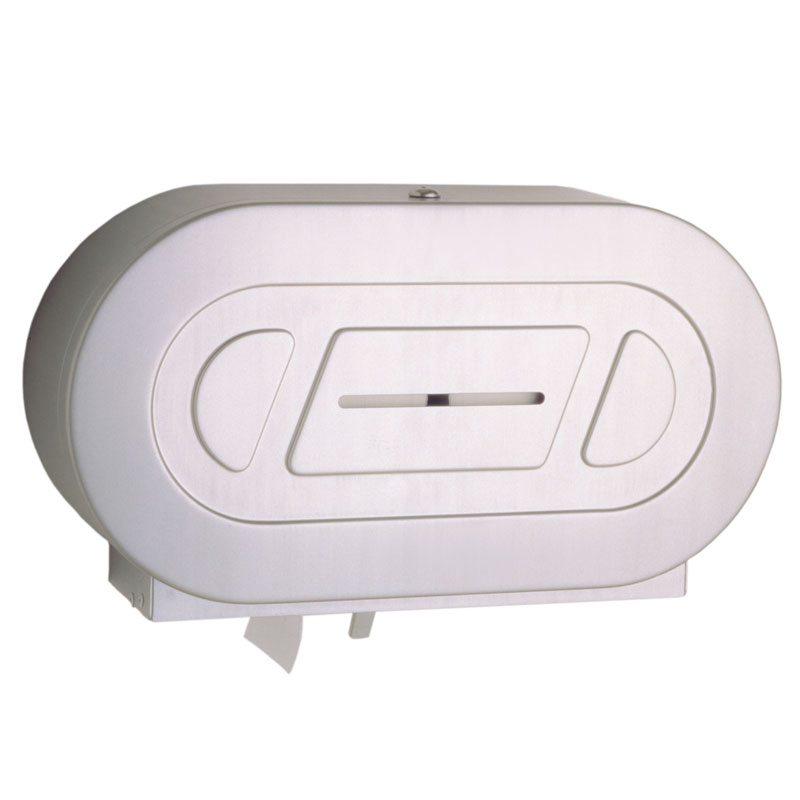 Two Jumbo Roll Toilet Tissue Dispenser