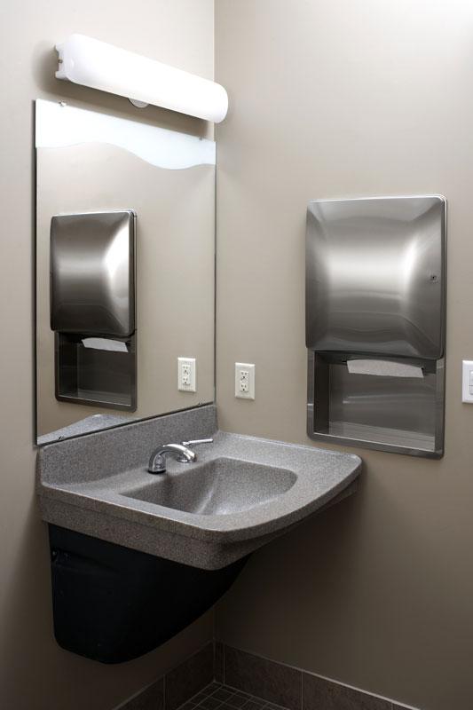 Bradley Diplomat Recessed Folded Paper Towel Dispenser