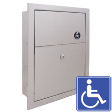 Standard Series Recessed Sanitary Napkin Disposal Receptacle