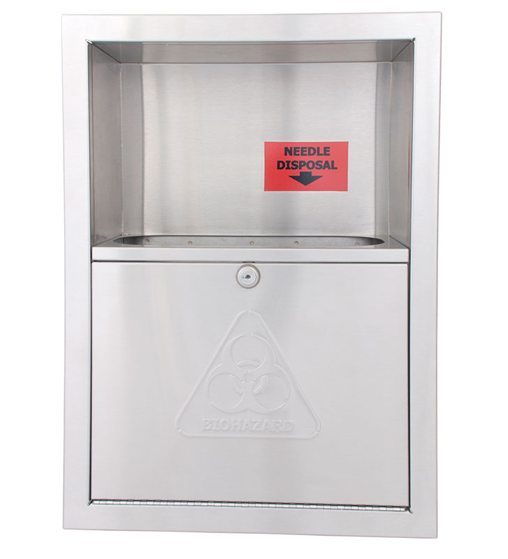 Surface Mounted Needle Disposal Container