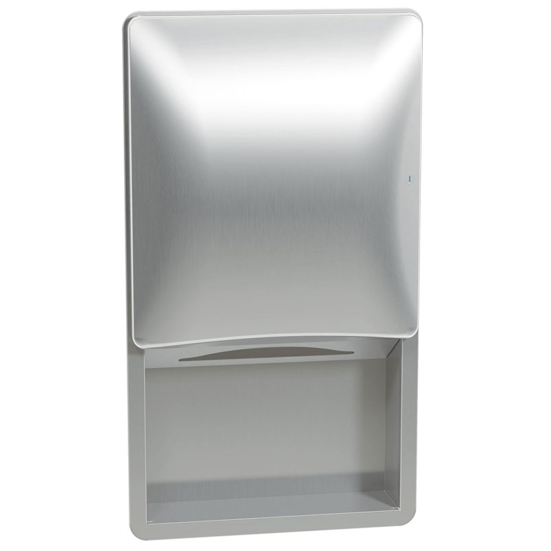 Bradley Diplomat Recessed Folded Paper Towel Dispenser Unoclean