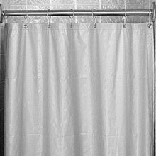 White Antimicrobial Shower Curtain