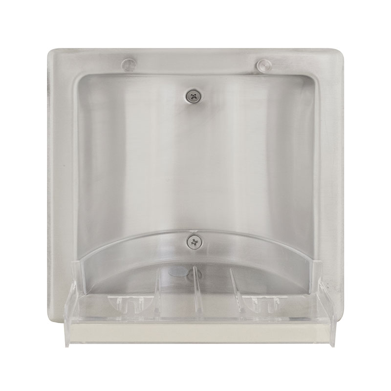Recessed Satin Finish Stainless Steel Soap Dish