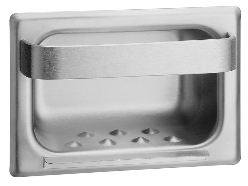 Stainless Steel Recessed Soap Dish & Towel Bar