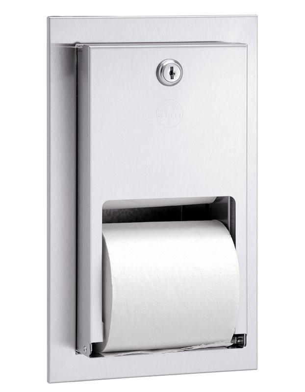 Recessed Stacking Roll Tissue Dispenser
