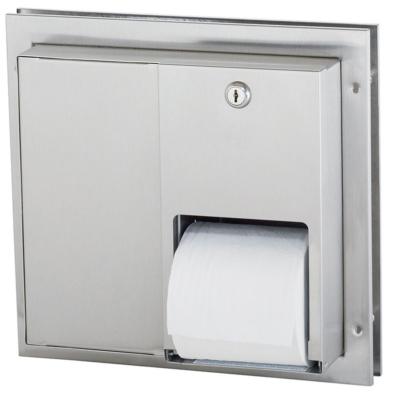 Partition Mounted Stacking Roll Tissue Dispenser
