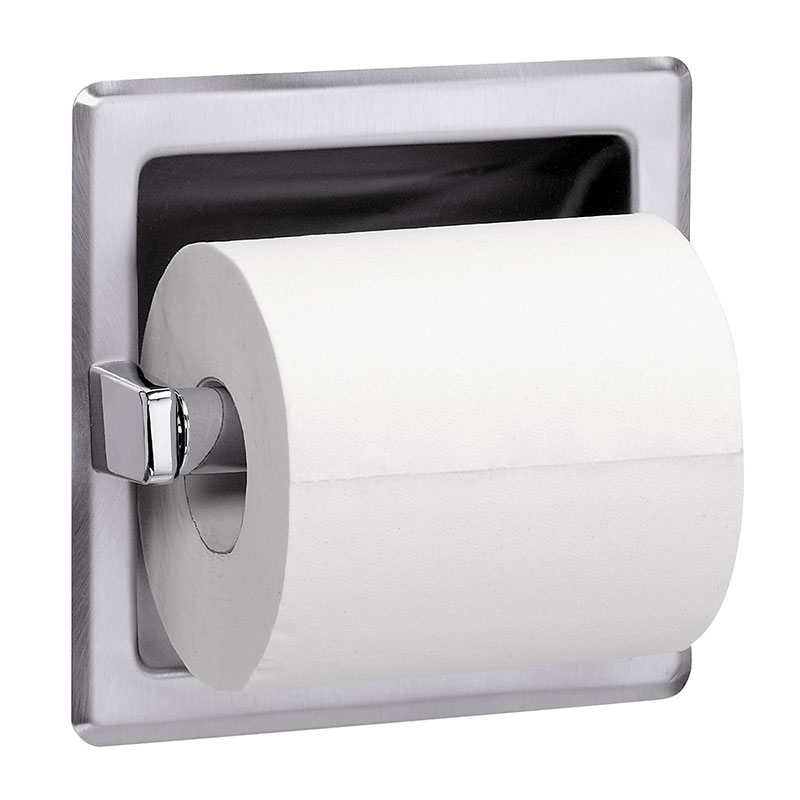 Recessed Single Roll Toilet Tissue Dispenser