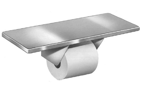 Single Roll Toilet Tissue Dispenser w/ Shelf