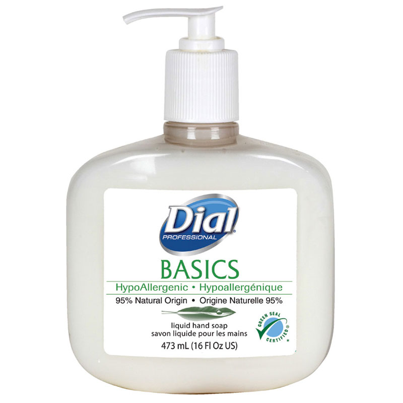 Basics Hypoallergenic Liquid Hand Soap - 16 oz. Pump Bottle