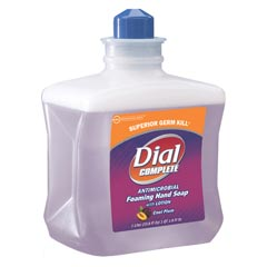 Dial® [81033] Complete® Foaming Soap Dispenser Refill - Antimicrobial w/ Lotion - Cool Plum - (4) 1,000-ml Cartridges