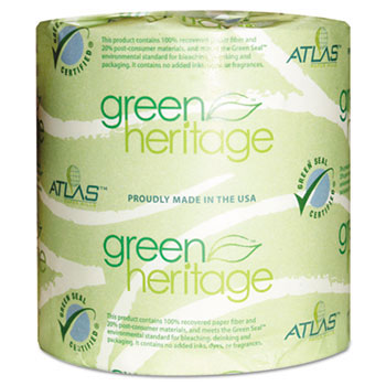 Green Heritage Bathroom Tissue, 2-Ply Sheets, White APM276GREEN