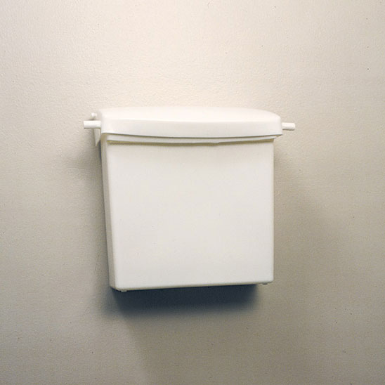 Rubbermaid [6140] Plastic Surface Wall Mount Sanitary Napkin Receptacle w/ Rigid Liner