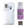 TC Rubbermaid 500355 Microburst 3000 Aerosol Odor Control Dispensing System - LCD - White - Try & Buy Kit TC-500355