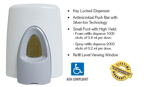 Technical Concepts CleanSeat Toilet Seat & Handle Cleaner - Dispenser