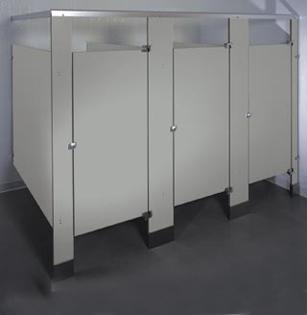 Phenolic Black Core Toilet Partitions High Durability