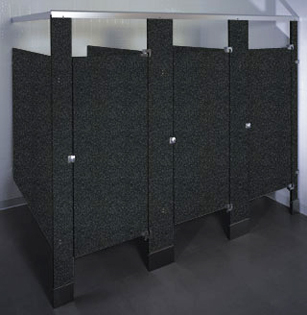 Phenolic Black Core Toilet Partitions High Durability