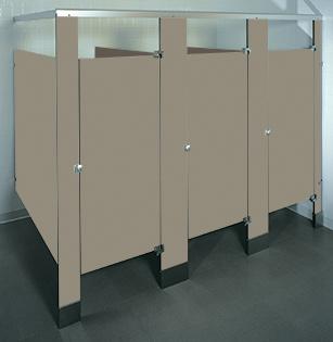 Phenolic Black Core Toilet Partitions High Durability UnoClean - Global bathroom stalls