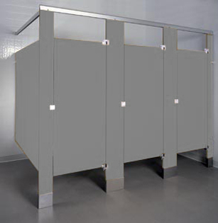 Phenolic color through toilet partitions unoclean - Commercial bathroom stall hardware ...