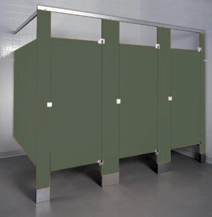 Phenolic Color Through Toilet Partitions UnoClean - Bathroom stall supplies