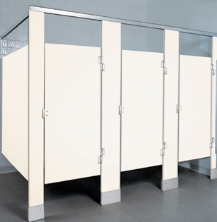 Solid Plastic Toilet Partitions HDPE UnoClean - Solid plastic bathroom partitions
