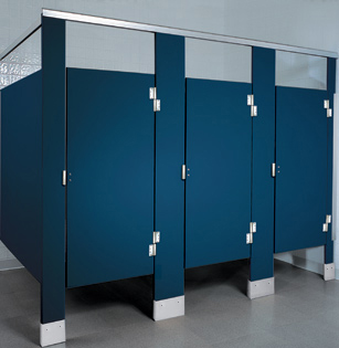 Solid plastic toilet partitions hdpe unoclean for Commercial bathroom supply