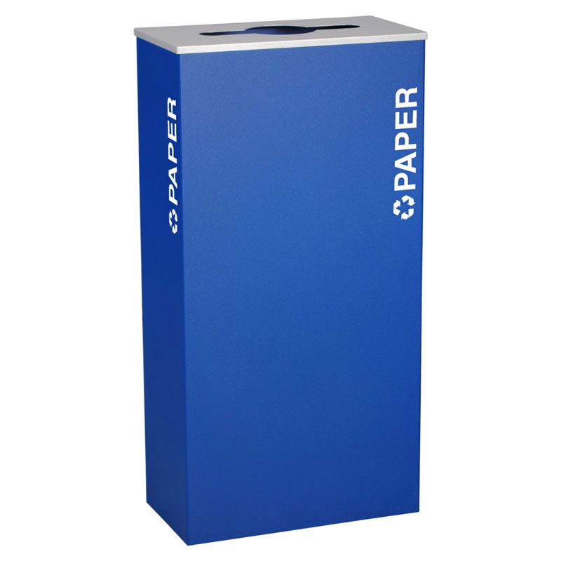 Ex-Cell RC-KD17-P-RYX Paper Recycling Receptacle Container - 17 Gal - Blue