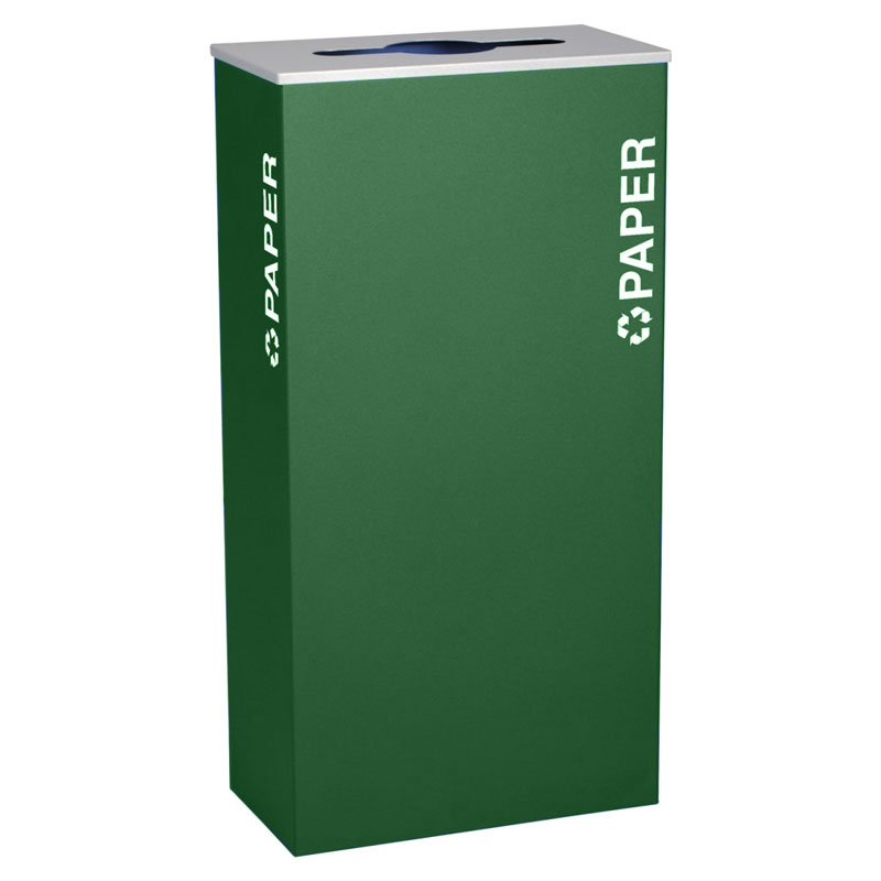 Ex-Cell RC-KD17-P-EGX Paper Recycling Receptacle Container - 17 Gal - Green