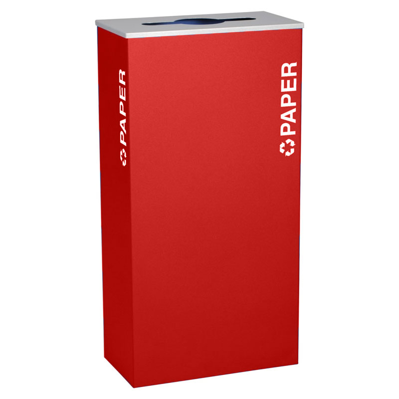 Ex-Cell RC-KD17-P-RBX Paper Recycling Receptacle Container - 17 Gal - Red