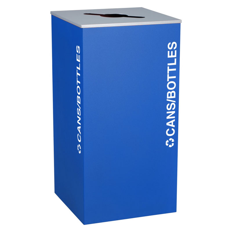 Ex-Cell RC-KD36-C-RYX Cans and Bottles Recycling Receptacle Container - 36 Gal - Blue