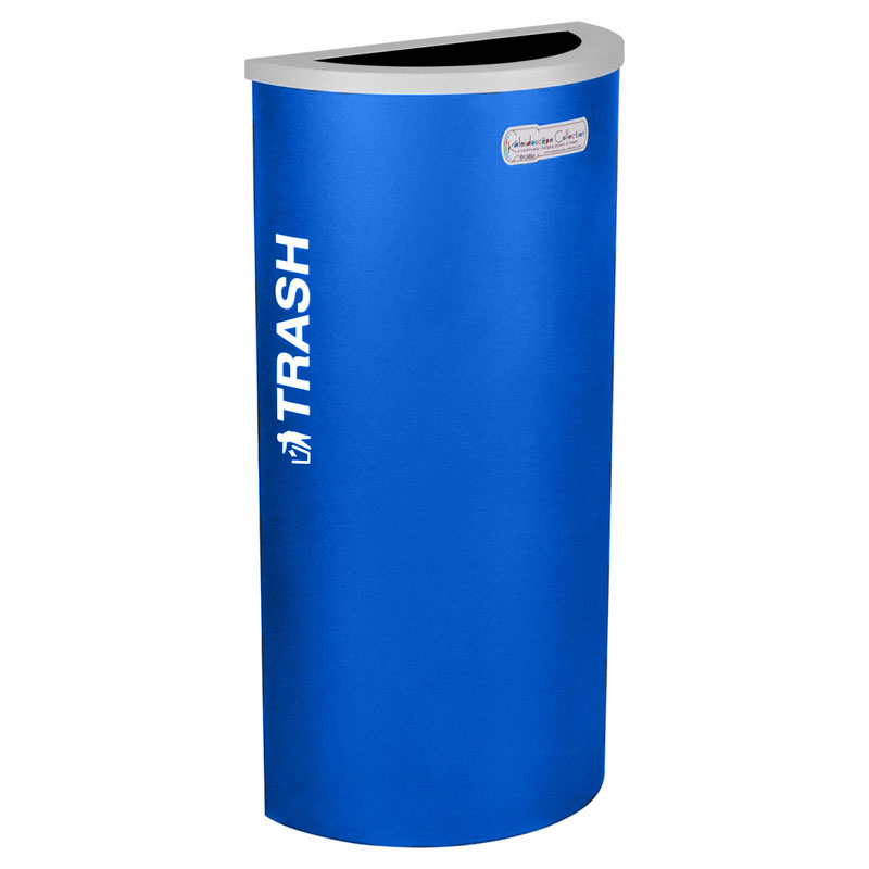 Trash Recycling Receptacle Blue Bin Container EXC-RC-KDHR-T-RYX
