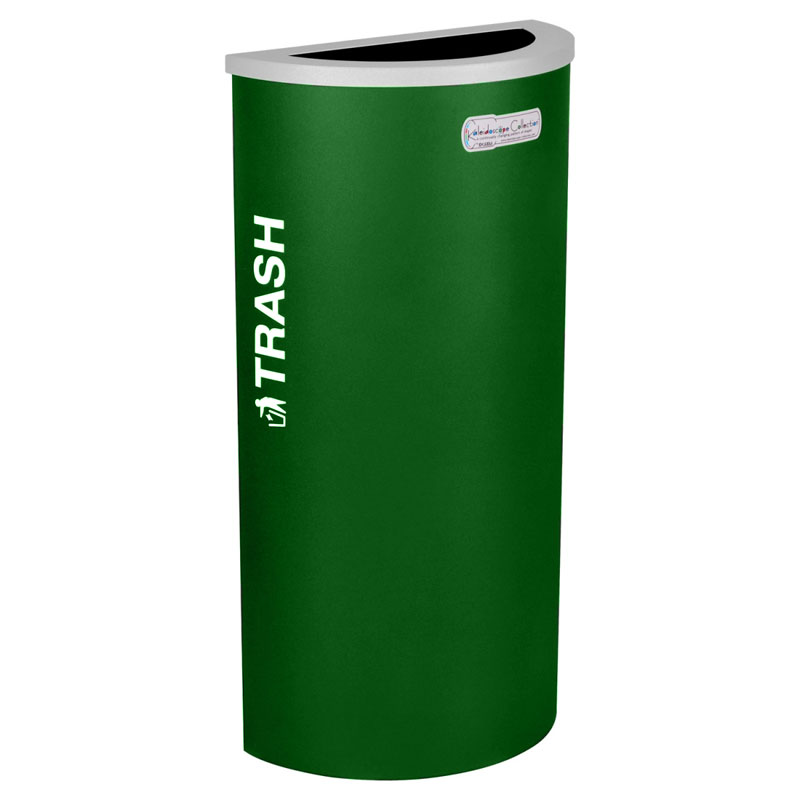 Trash Recycling Receptacle Green Bin Container EXC-RC-KDHR-T-EGX