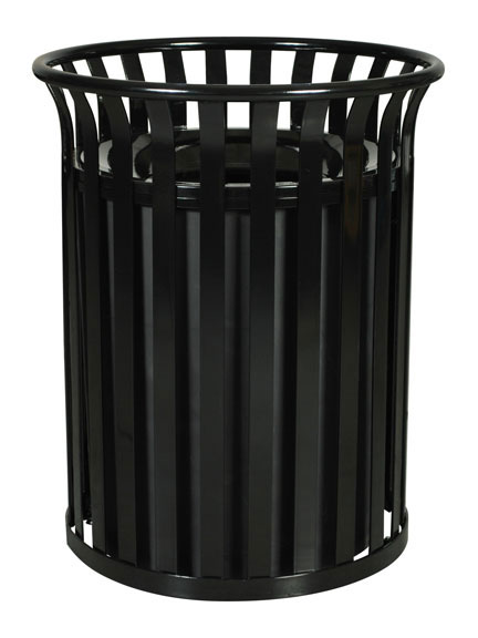 Streetscape Outdoor Waste Receptacle - Black