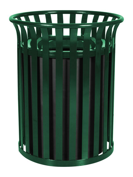 Hunter Green Streetscape Outdoor Waste Receptacle