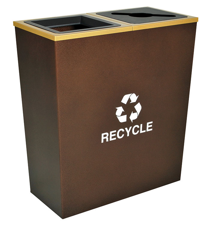Metro Collection Recycling Receptacles - EX-CELL RC-MTR-2 HCPR